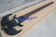 Wholesale special custom 4 strings black headless  Electric Bass China factory(accept customize any color)