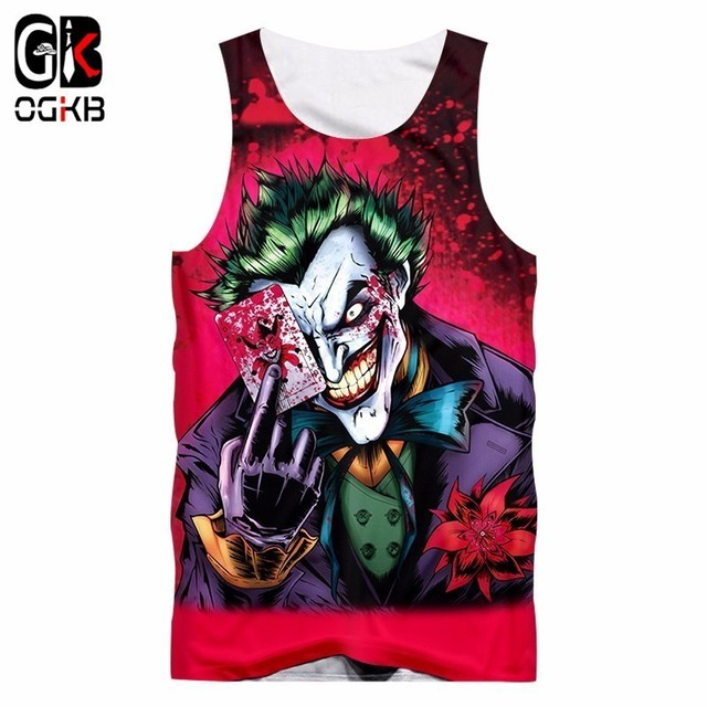 a6a2e592282 OGKB Anime Tanks Women/men's Summer Funny Print Jokers 3d Tank Top Suicide  Squad Vest Singlets Man Hiphop Punk Sleeveless Tees-in Tank Tops from Men's  ...