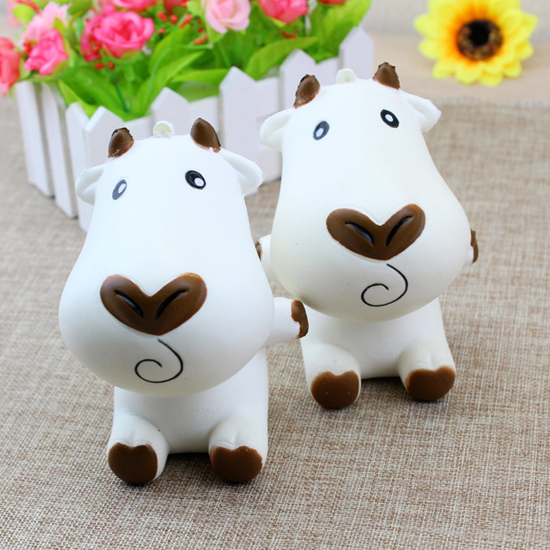 Slow Rising Kawaii White Brown Cow Squishy Cute and Squishy