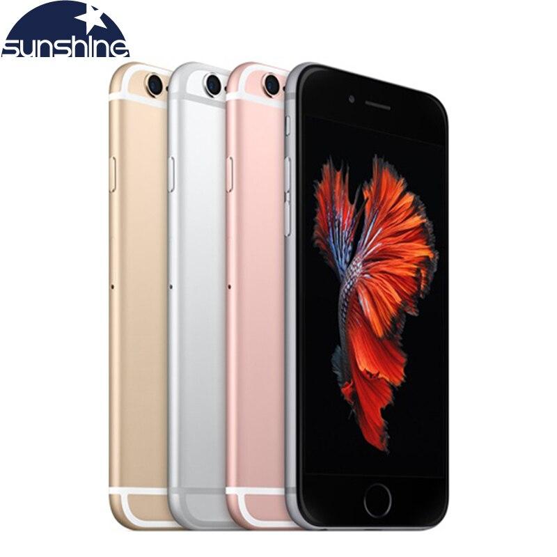 Original desbloqueado apple iphone 6 s/iphone 6 s mais telefone móvel 12.0mp 2g ram 16/32/64/128g rom 4g lte duplo núcleo telefones celulares wifi