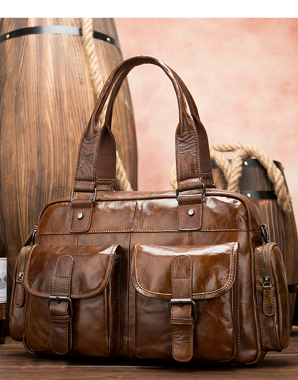 5 men\`s briefcase bag men\`s genuine leather bag mens briefcase messenger bags business laptop office bags for men handbag