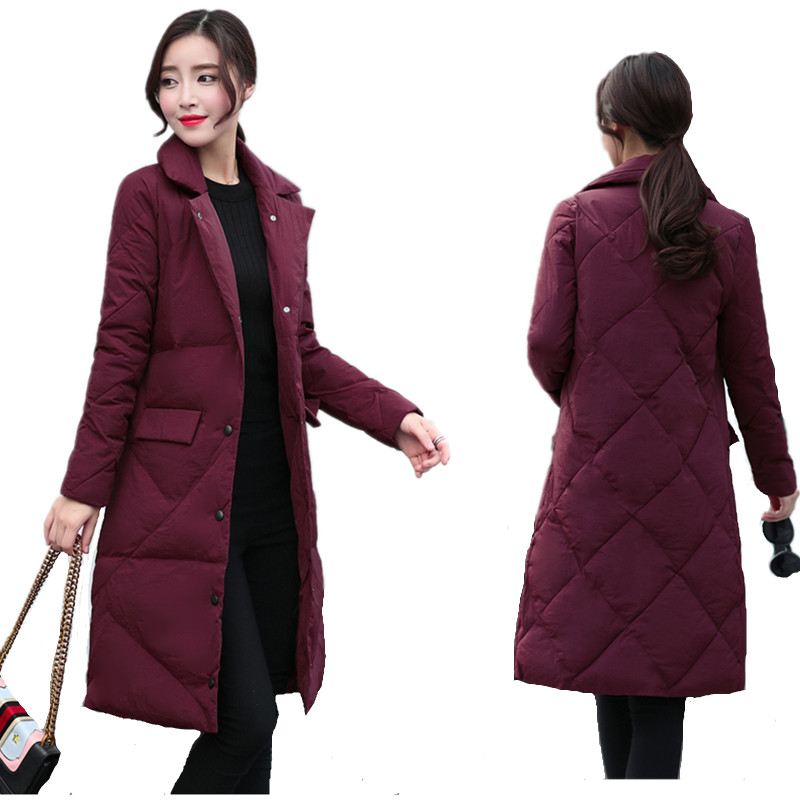 Winter Plus Size Long   Down     Coat   Ultra Light   Down   Jacket Women Bubble Puffer Jacket Abrigo invierno mujer