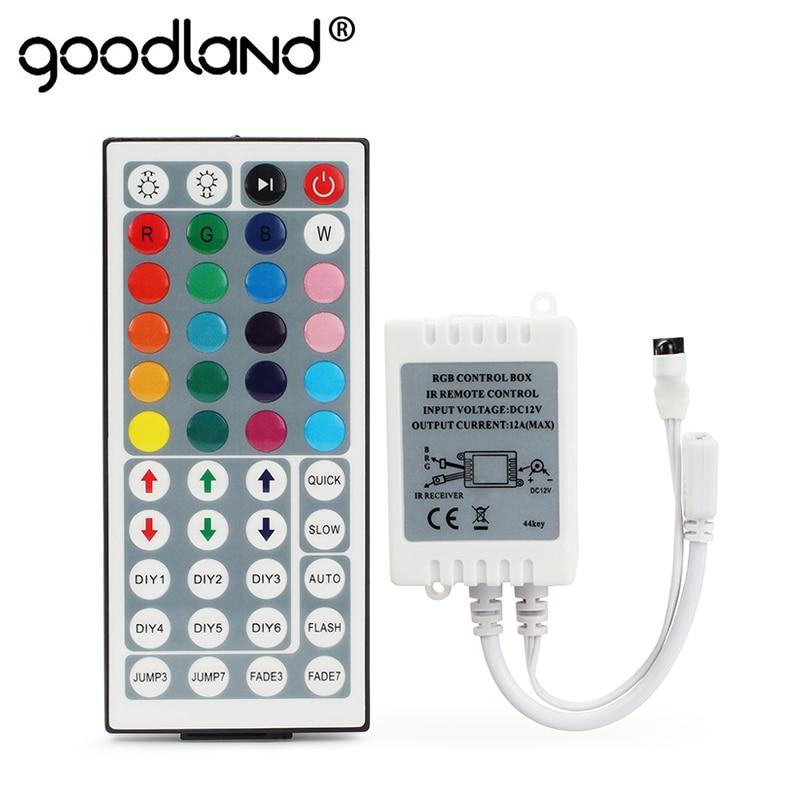 Goodland LED RGB Controller 24 Key 44 Key Mini IR Remote Controller RGBW DC 12V Dimmer For SMD 2835 3528 5050 LED Strip Light