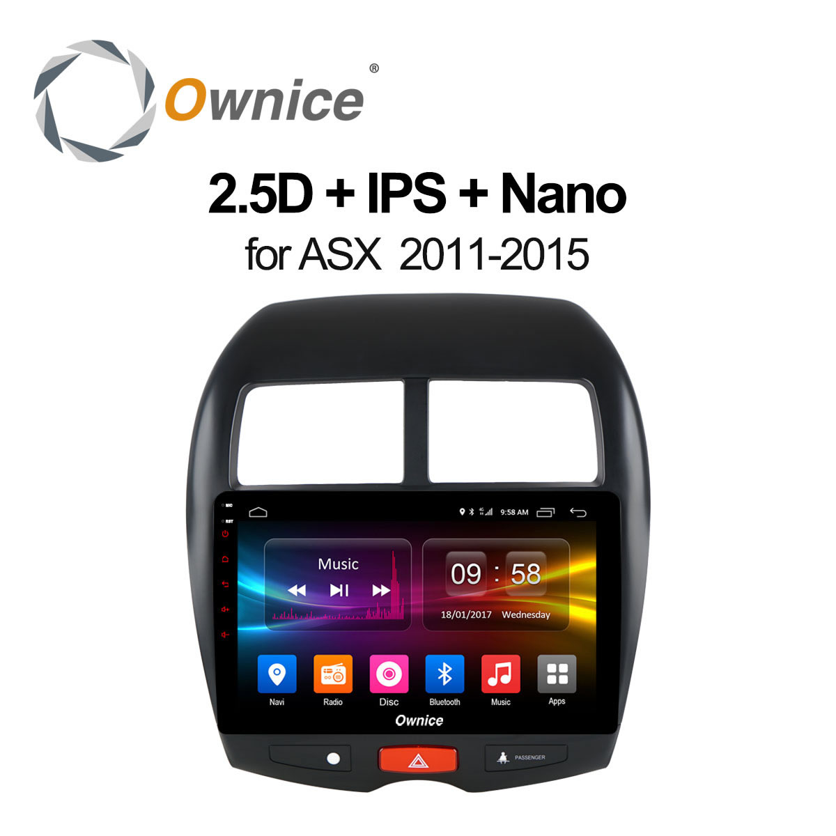 Ownice C500 + 10.1 octa base Android 6.0 Autoradio lecteur GPS 32 GB ROM pour Mitsubishi ASX 2011 2012 2013 2014 2015 DVD 4G DAB +