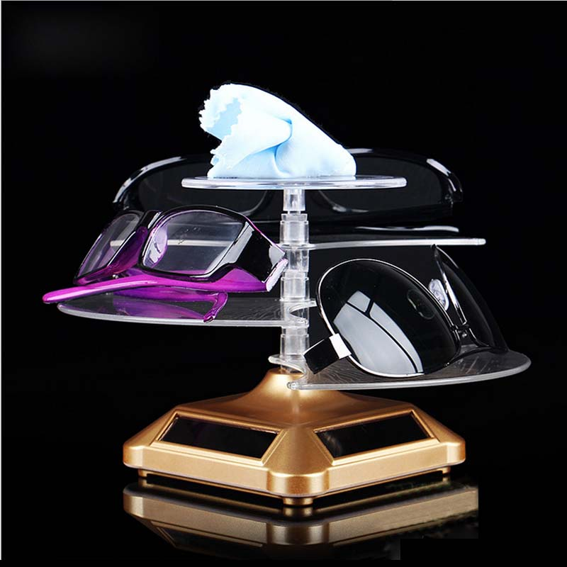 360 Degree Solar Powered Jewlery Display Stand Necklaces