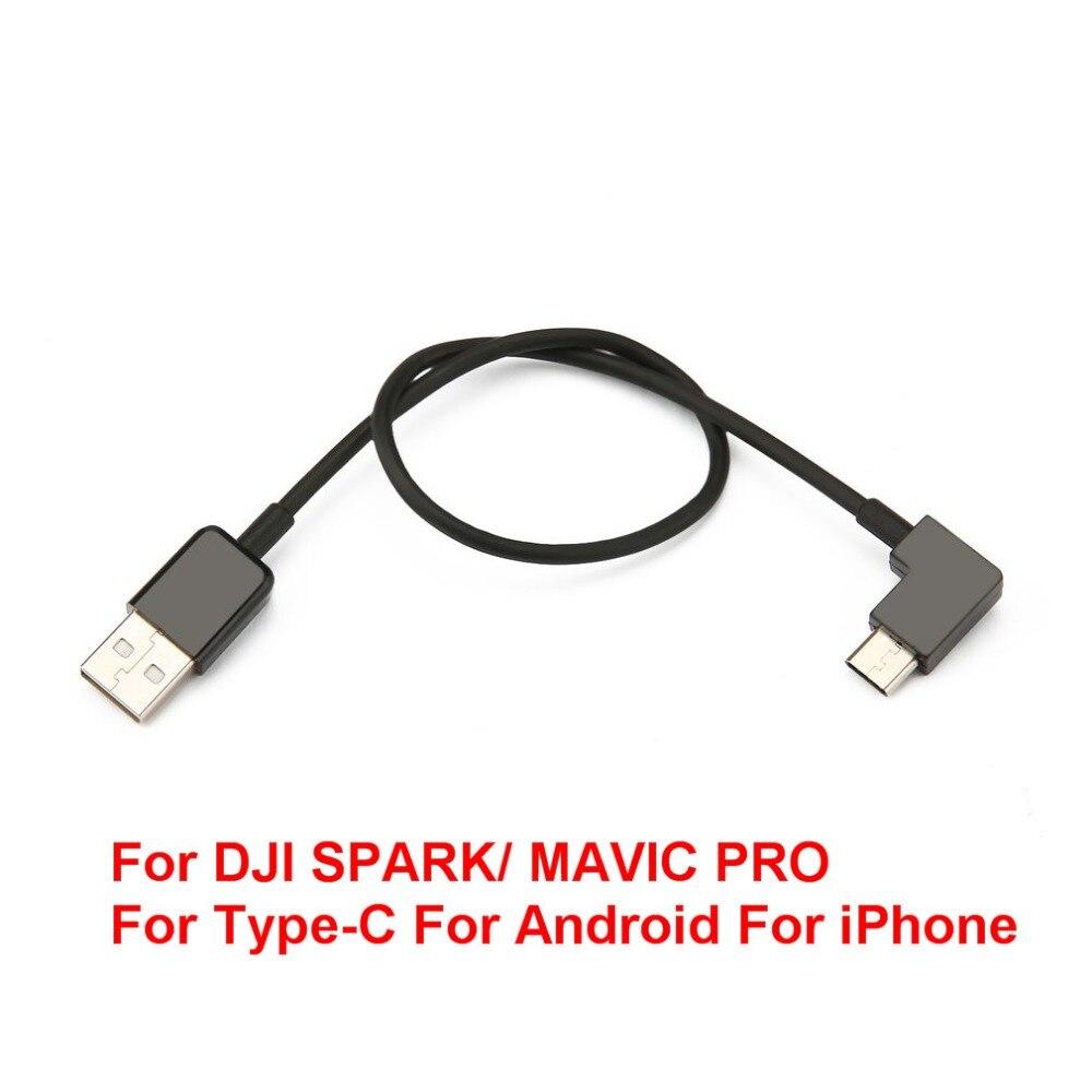 Универсальный кабель для DJI Spark/Mavic Pro контроллер линии связи для Тип-C для Android для Iphone планшеты