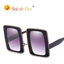 SOL DE ORO New Personality Large Frame Ocean Lens Sunglasses Love Dotted Square Trend