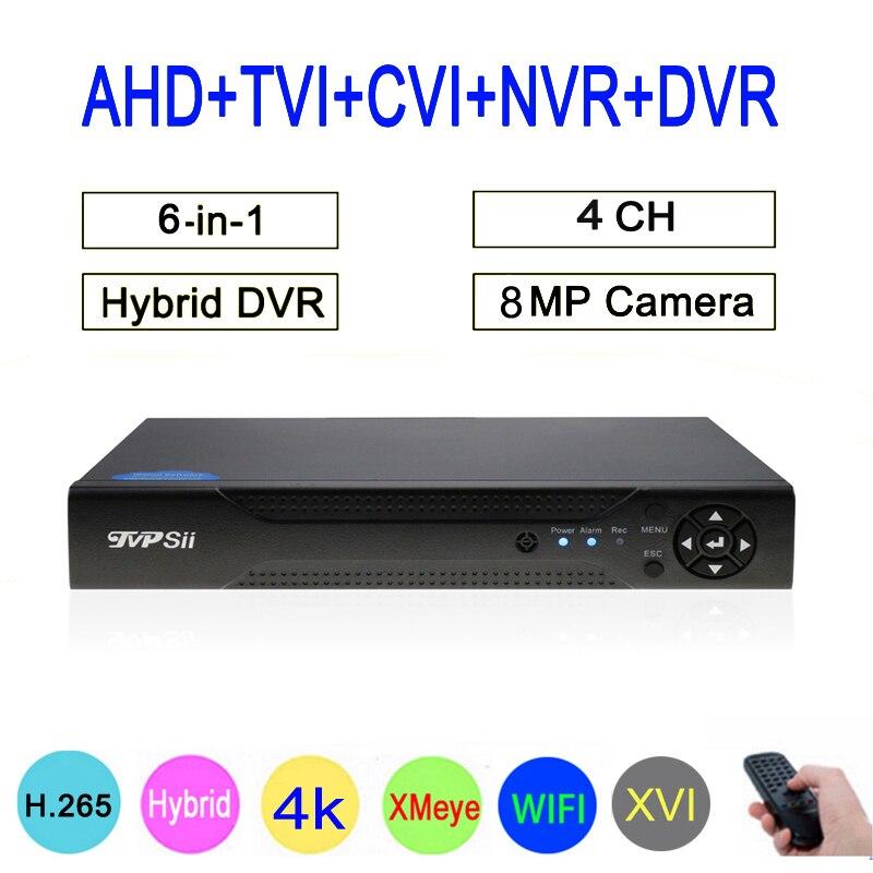 8MP Surveillance Camera XMeye Hi3521D 4CH 4 Channel Hybrid WIFI 6 in 1 H 265 XVI