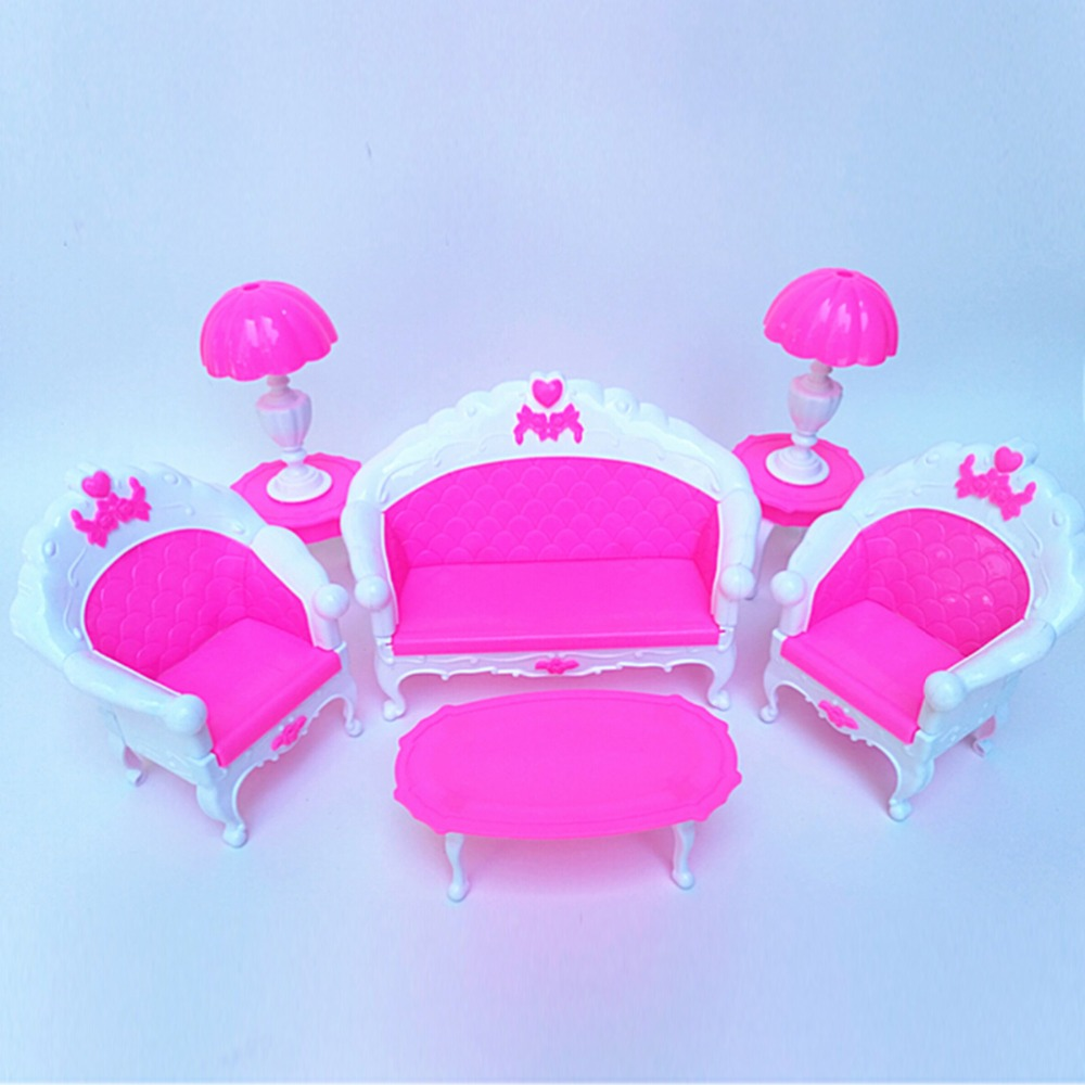 Rocking Chair Sofa Baviphat Accessories Plastic Furniture Sets For Doll House Decoration Baby Toys Baviphat Furniture