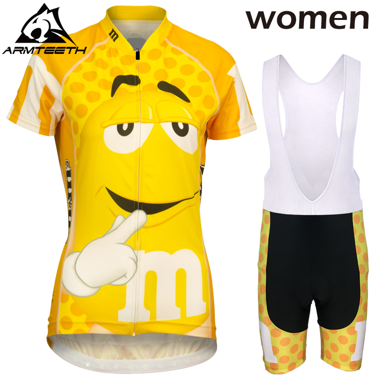 Hot 2017 Women Short Sleeve Cycling Set Mountain Bike Clothing Breathable Bicycle Jerseys Clothes Maillot Ropa Ciclismo Yellow x tiger brand pro summer cycling set bicycle jerseys breathable short sleeve mountain bike clothing 2017 maillot ropa ciclismo