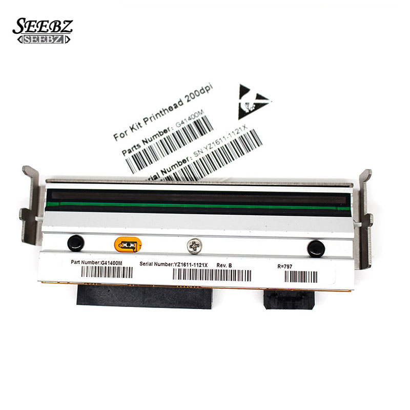 New Compatible printhead For Zebra S4M 203dpi Thermal Barcode Label Printer G41400M,Printing on Coated Paper Only print head new original for zebra s400 200dpi thermal barcode label printer printer part printing accessories printhead 44999m
