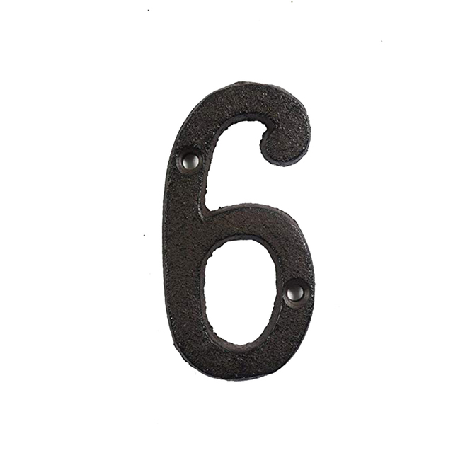 Metal Letters Numbers Cast Iron Decoration Gift Home Decor Doorplate DIY Cafe Wall 8cm Wrought Iron A to Z, 0 to 9 Signs P7Ding 6