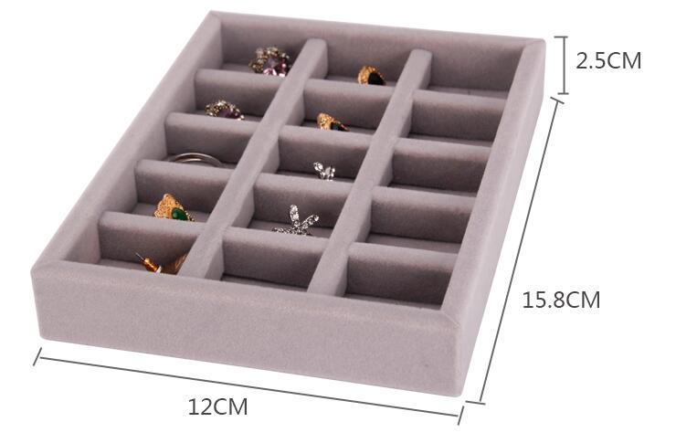New Drawer Diy Jewelry Storage Tray Ring Bracelet Gift Box Jewellery Organizer