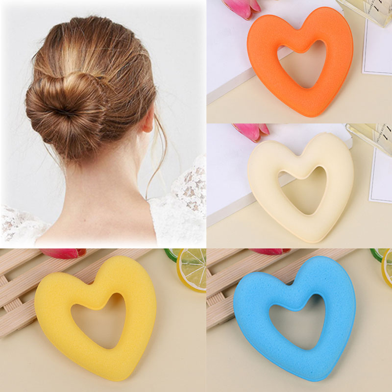 LNRRABC Fashion Women Girls Heart Magic Hair Curler Spiral Curls Roller Curl Hair Rope DIY Hair Styling Tool Hair Accessories hot sale diy hair styling synthetic wig donut foam head band magic tool bun maker hair band for women girls hair accessories
