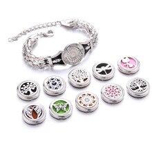 10 Styles Life Of Tree Aroma Bracelet Adjustable Bangle Essential Oil Diffuser Perfume Aromatherapy Chain Locket