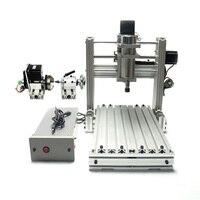 DIY CNC 3020 3 Axis 4 Axis Mini Wood 2030 CNC Engraving Machine Milling Lathe