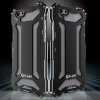 R JUST Luxury Heavy Duty Metal Aluminum Armor Shock Dropproof Fundas Phone Protect Coque Cover Cases