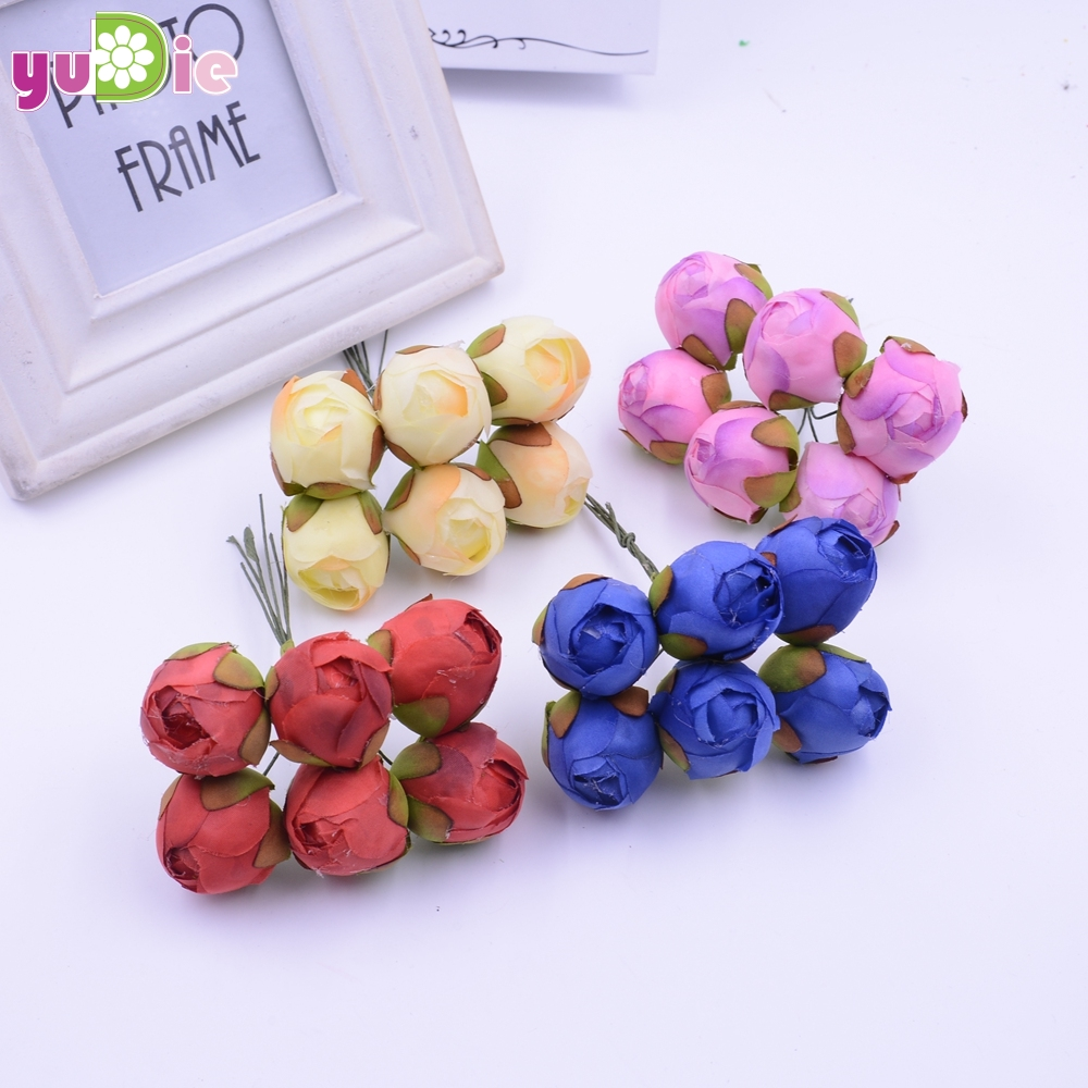 Envío gratis 60 unids/bráctea pequeño capullo de rosa rosas ramo flores artifici
