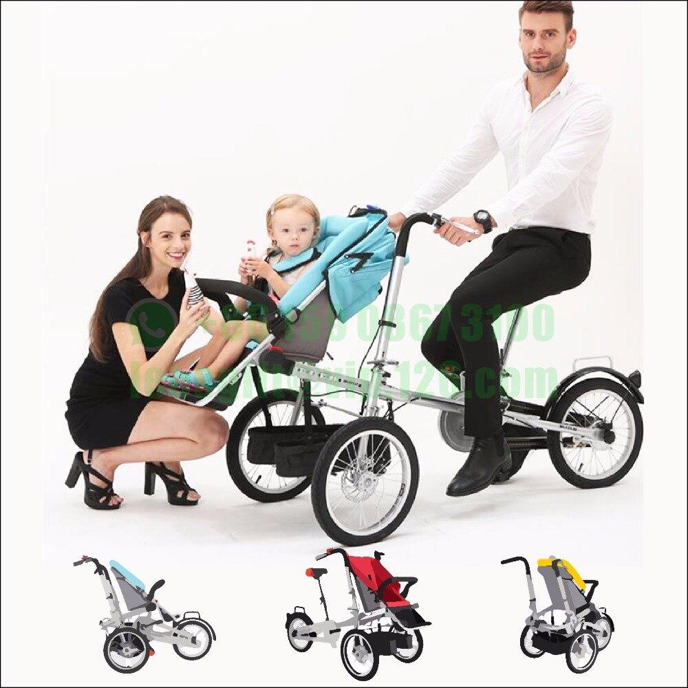 Nova moda bebê taga bicicleta carrinho de bebê triciclo bicicleta taga bicicleta carrinho de criança carrinho de criança triciclo pode colocar pode acomodar
