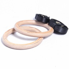 wooden gymnastic fitness rings for shoulder strength physical muscle training gym crossfit wholesale and free shipping