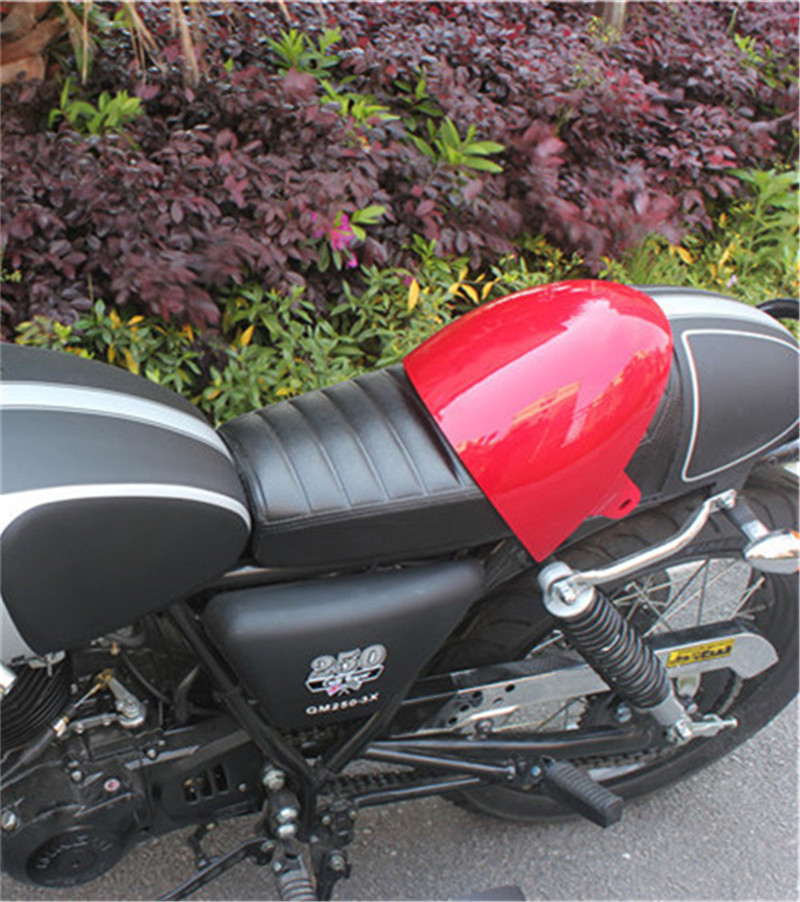 Motorcycle SEAT Universal Cafe Racer Seat HUMP MASH RACER BLACK SEAT RETRO LOCOMOTIVE CUSHION SIMA with RED seat cover cerezo osaka urawa red diamonds stubhub exclusive seat