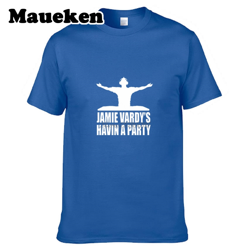 Men ENGLAND LEICESTER CITY #9 JAMIE VARDY HAVIN A PARTY T-SHIRT W0901005