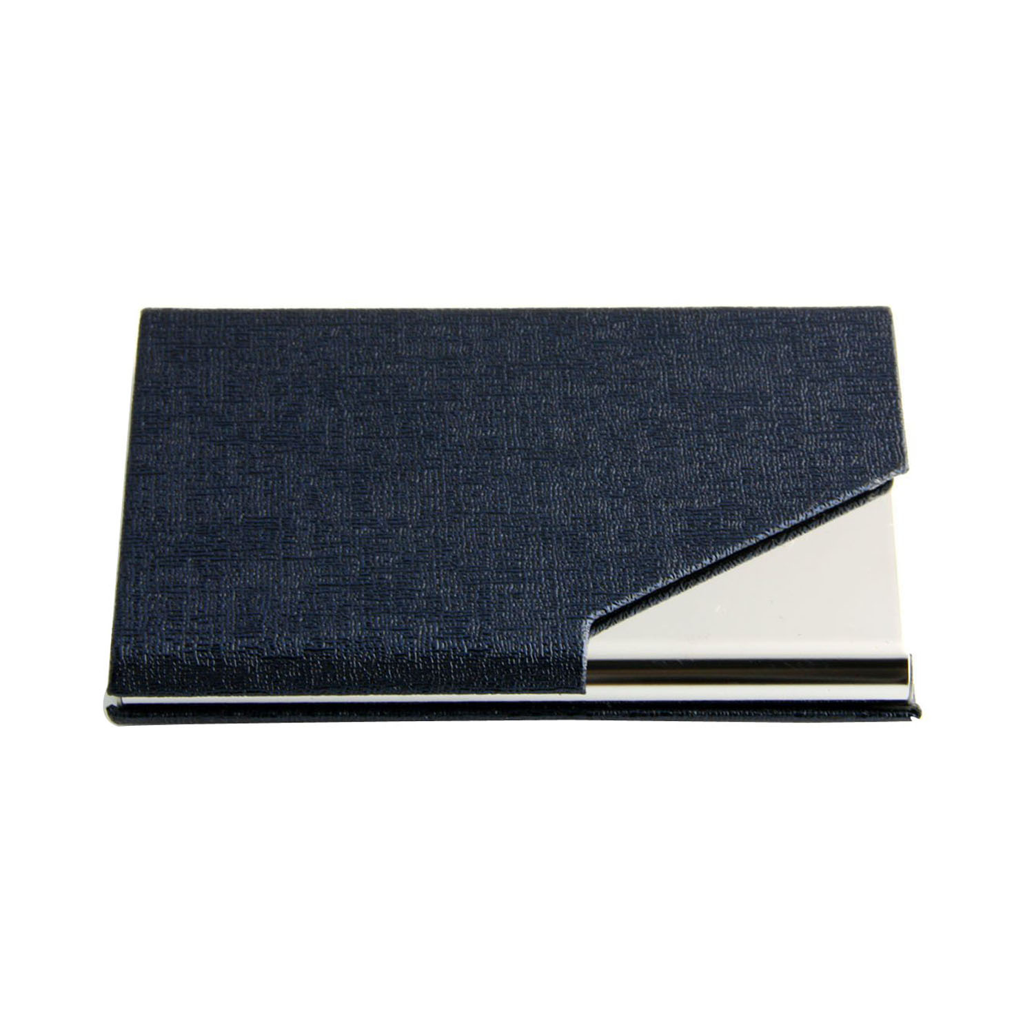 business name card holder luxury pu leather  stainless