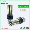 LED Bulb 5736 SMD More Bright 5730 LED Corn lamp Bulb light 3.5W 5W 7W 8W 12W 15W E27 E14 85V-265V No Flicker Constant Current
