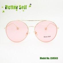 f9efa891fa Rosa lente gafas de sol UV400 aluminio gafas nueva moda doble puente gafas  de sol de las mujeres de Metal marco mejor auto de LS.