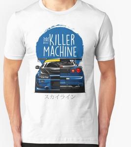 Image 1 - New Men T shirt Fashion Niss Skyline GTR R34 BNR34 Car Logo JDM T shirt Custom Print