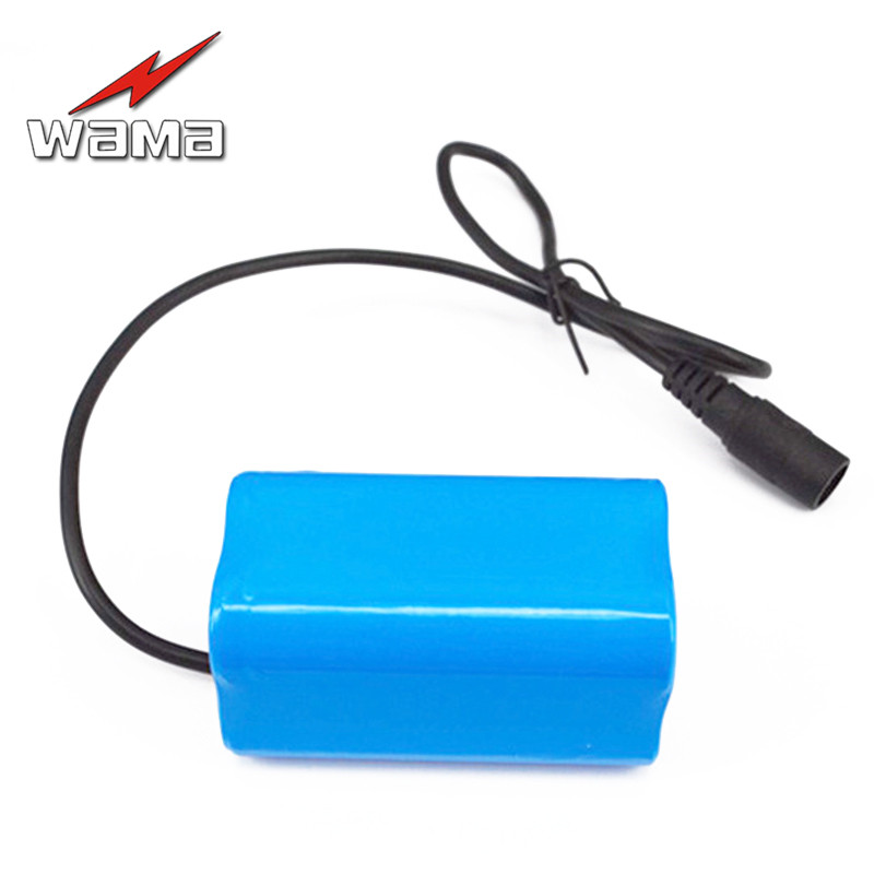 1x Wama 8000mAh 3 7V Li Ion 4 series 4S 18650 Rechargeable Battery Packs For Emergency Headlamp LED FlashLight 4 in Parallel in Battery Packs from Consumer Electronics