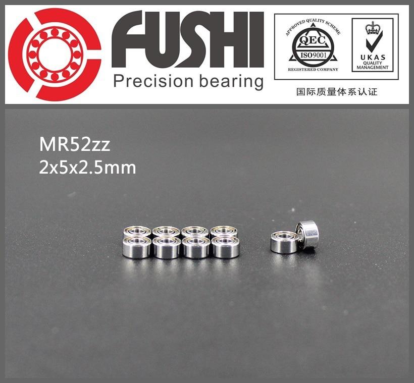 MR52 ZZ Bearing ABEC-5 (10PCS) 2*5*2.5 mm Miniature MR52ZZ Ball Bearings Good Quality L-520ZZ W52 1pcs 71901 71901cd p4 7901 12x24x6 mochu thin walled miniature angular contact bearings speed spindle bearings cnc abec 7