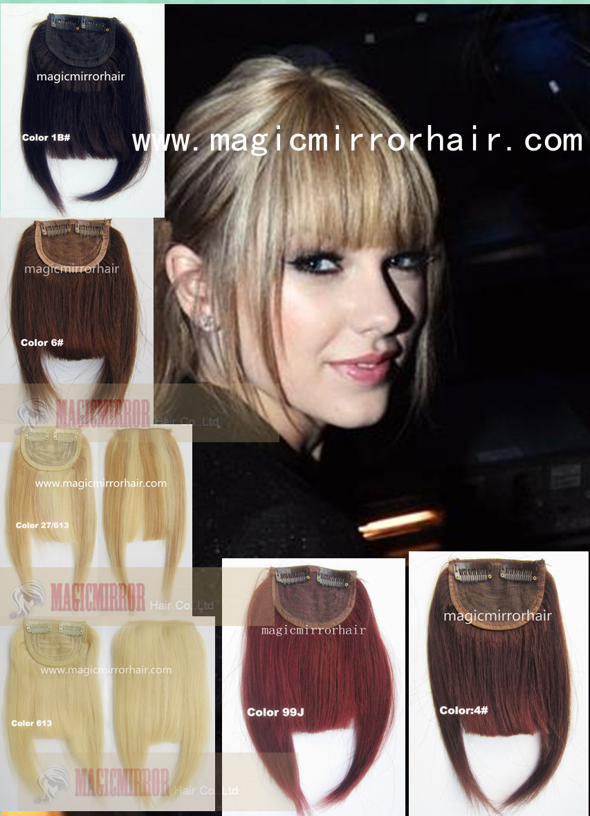 Clip In Hair Bangs Front Fringe Top Quality Human