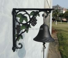 Cast Iron Grape Dinner Bell Wall Mount Vineyard Door Bell WELCOME Decorative Bell for Home Bar Shop Store Antirust Free Shipping
