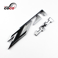 Superior Quality Car Styling Nameplate Auto Tailgate 3D Chrome Metal Sticker Decal Emblem Black Z Silver