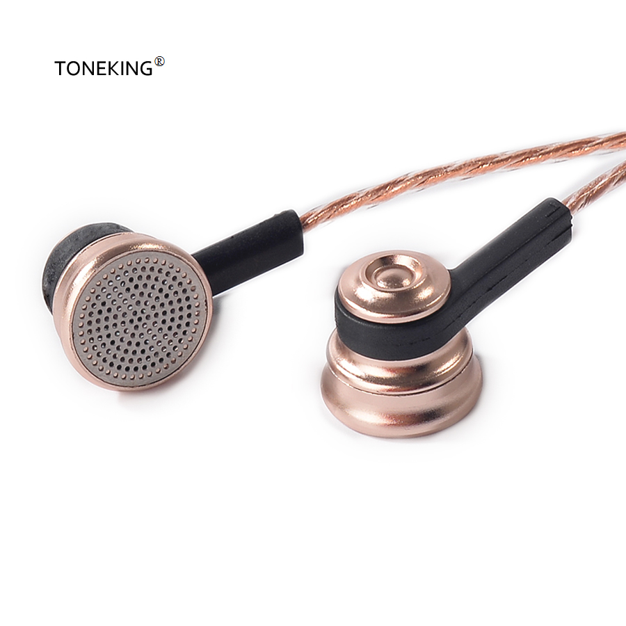 Newest MusicMaker TONEKING ROS1 18ohm Impedance Metal Earbud 14mm Drive Unit Vocal and bass Earbud With MMCX interface