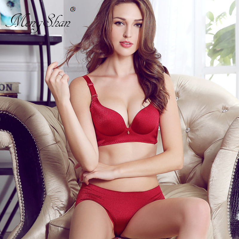 women bra biustonosz Massage cup without steel ring bra+set Wire-drawn underwear suit sexy push up 70B 80B 85B 70C 80C 85C 75C