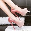 Rosa verde bomba de casamento sapatos de salto das mulheres bombas da plataforma de salto alto saltos das mulheres sapatos de salto sapatos de festa prata estiletes X320