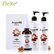 Dexe All-sided Hair Care Set Argan Oil 400ml Moisture Vitality + 400ml Moisture Conditioner + 50ml Argan Oil From Morocco