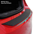 Car Rubber Rear Guard Bumper Protector Trim Cover car sticker plate for Volkswagen VW  Polo  t4 t5 golf 4 golf 7