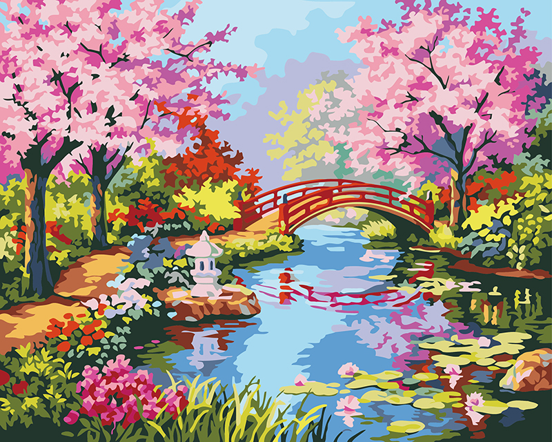 Watercolor Spring Scenery | www.pixshark.com - Images ...