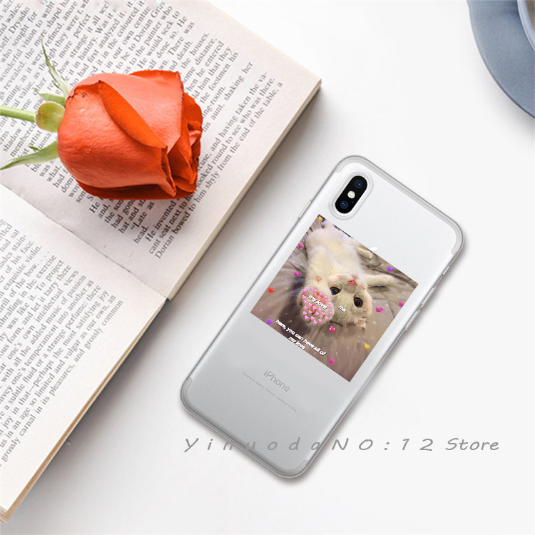 Yinuoda супер милый кот собака мультфильм розовый в форме сердца ты и я серия HD Прозрачный чехол для телефона для iphone 6 7 8 Plus X XS XSMax 5S - Цвет: 8