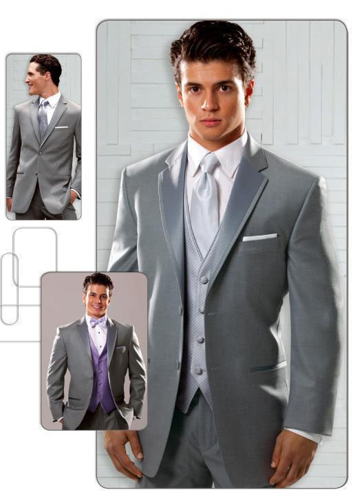 New Arrival Sterling Grey Grooms Suits Two Buttons Groom Wedding ...