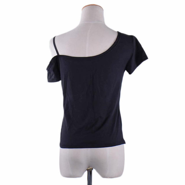 60bda99a35e01 Women s I Love The 80s T-Shirt Black off-shoulder T-shirt Retro Pop Star  Fancy Dress Party Ladies Short Sleeve Shoulder Top