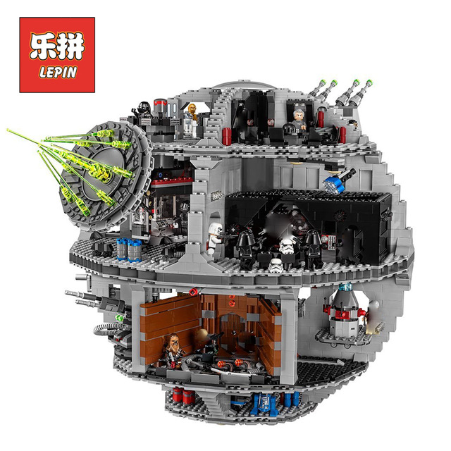 2017 New 4016Pcs Lepin 05063 Genuine Star War UCS Death Star Rogue One Set Building Blocks Bricks Educational Toys 79159 DIY boy gonlei figures rogue one k 2so death trooper sergeant jyn erso figure toys building blocks christmas gifts lepin