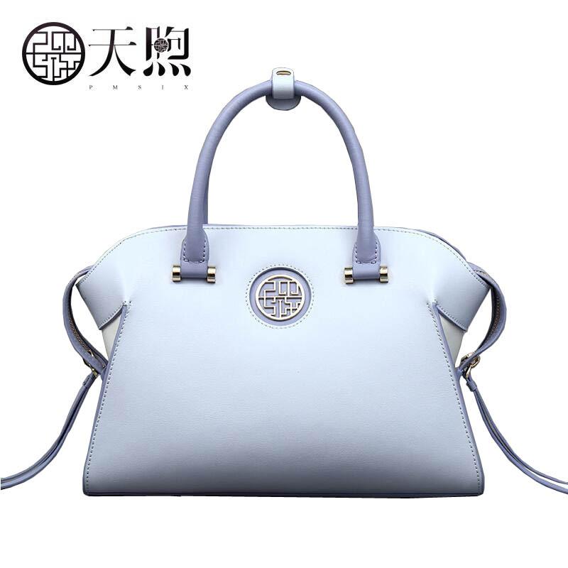 цены Pmsix original design Chinese wind art handbag 2017 new fashion leather bag Fashion fringed handbags Boston package