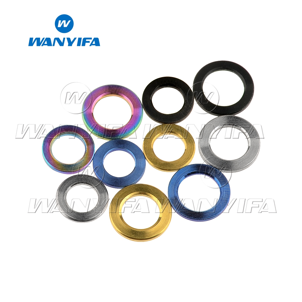 Wanyifa Titanium Flat Washer M4 M5 M6 M8 M10 DIN912 Spacer for Bicycle Cycling Motorcycle Car(China)