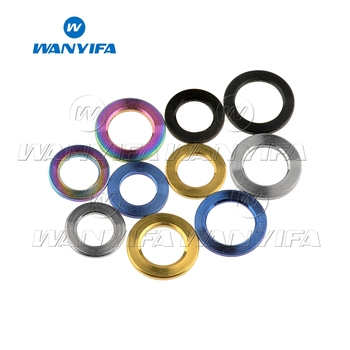 Wanyifa Titanium Washer M4 M5 M6 M8 M10 DIN912 Flat Spacer for Bicycle Cycling Motorcycle Car