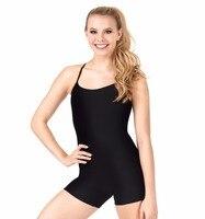 Adult Y Back Camisole Biketard Women Black Lycra Gymnastics Unitard Spandex Ballet Dance Dancewear Girls Leotards
