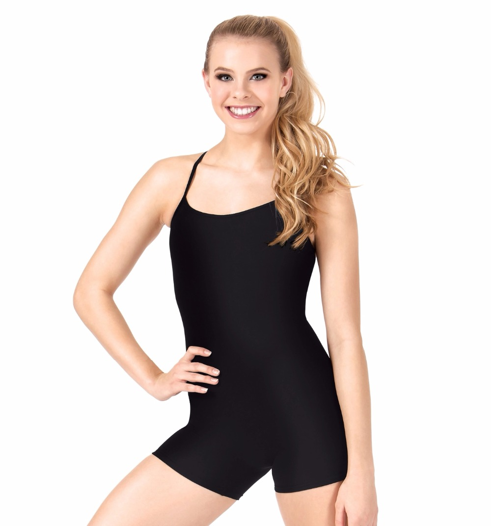 Black spandex dance unitard gymnastics and dancewear - Adult Y Back Camisole Biketard Women Black Lycra Gymnastics Unitard Spandex Ballet Dance Dancewear Girls Leotards